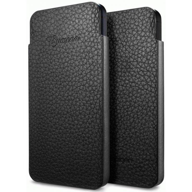 Чехол для iPhone 5 SGP Leather Pouch Crumena S Black