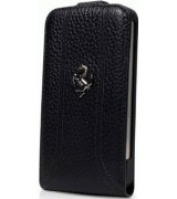 Чехол Ferrari Leather Flip Case FF Collection для iPhone 5 Black