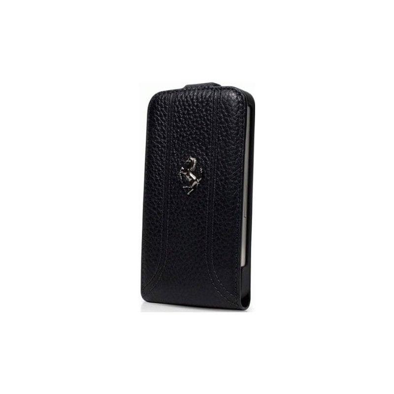 Чехол Ferrari Leather Flip Case FF Collection для iPhone 5 Black