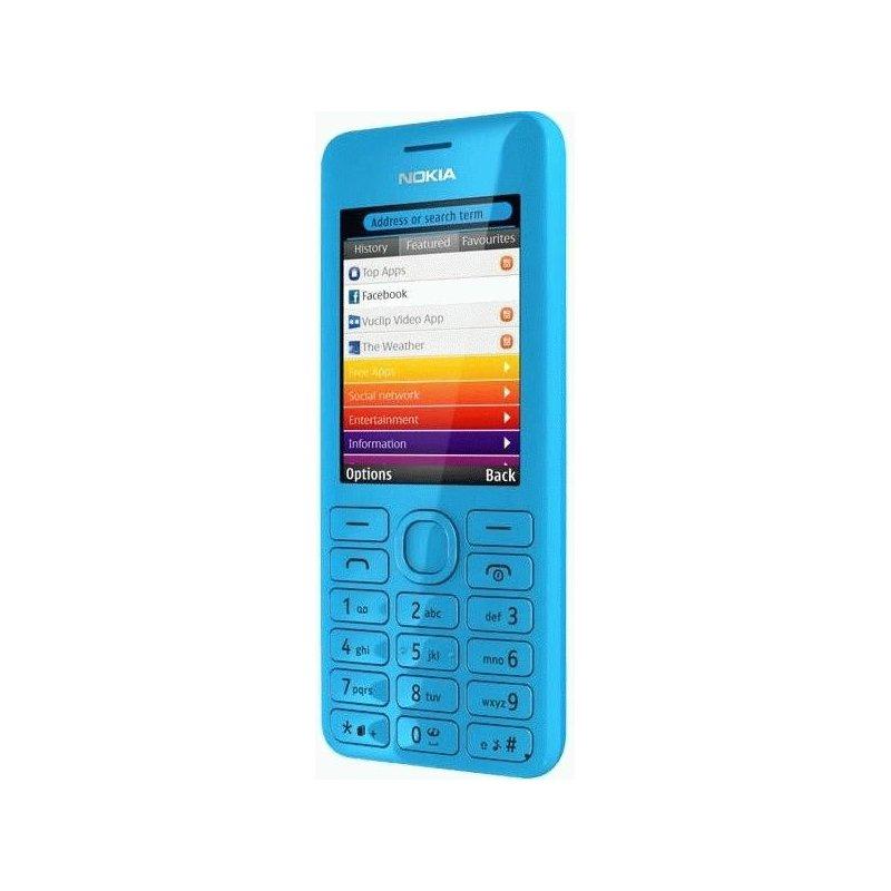 Nokia Asha 206 Cyan