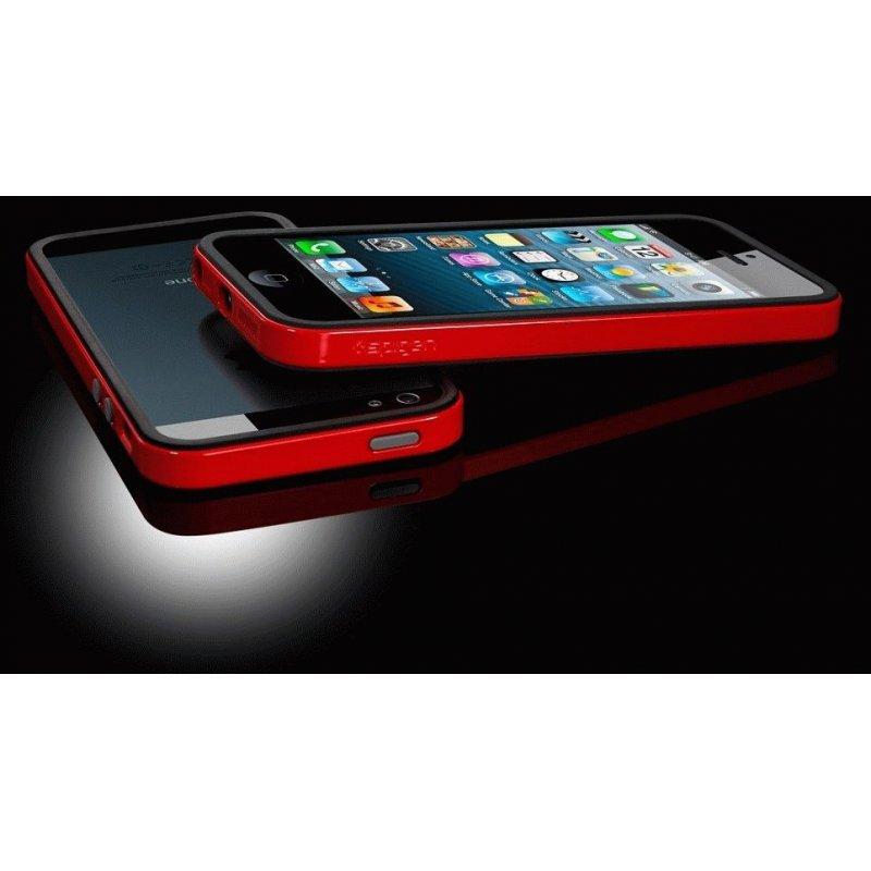 Бампер для iPhone 5 SGP Case Neo Hybrid EX Dante Red (SGP10026)