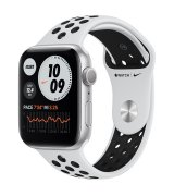 Apple Watch Nike Series 6 44mm (GPS) Silver Aluminum Case with Pure Platinum/Black Nike Sport Band (MG293)