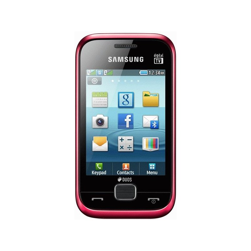 Samsung Champ Delux Duos C3312 Flamingo Red