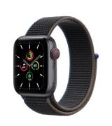 Apple Watch SE 40mm (GPS+LTE) Space Gray Aluminum Case with Charcoal Sport Loop (MYEE2)