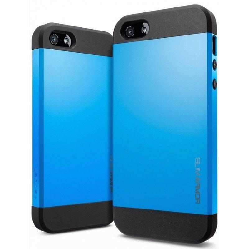 SGP iPhone 5 Case Slim Armor Color Dodger Blue ( SGP10099)