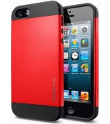 SGP iPhone 5 Case Slim Armor Color Crimson Red (SGP10100)