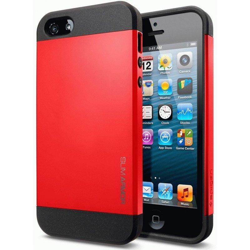 SGP iPhone 5 Case Slim Armor Color Crimson Red (SGP10100)
