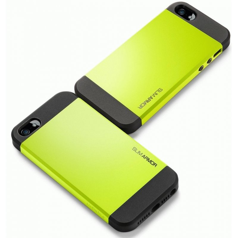SGP iPhone 5 Case Slim Armor Color Lime (SGP10101)