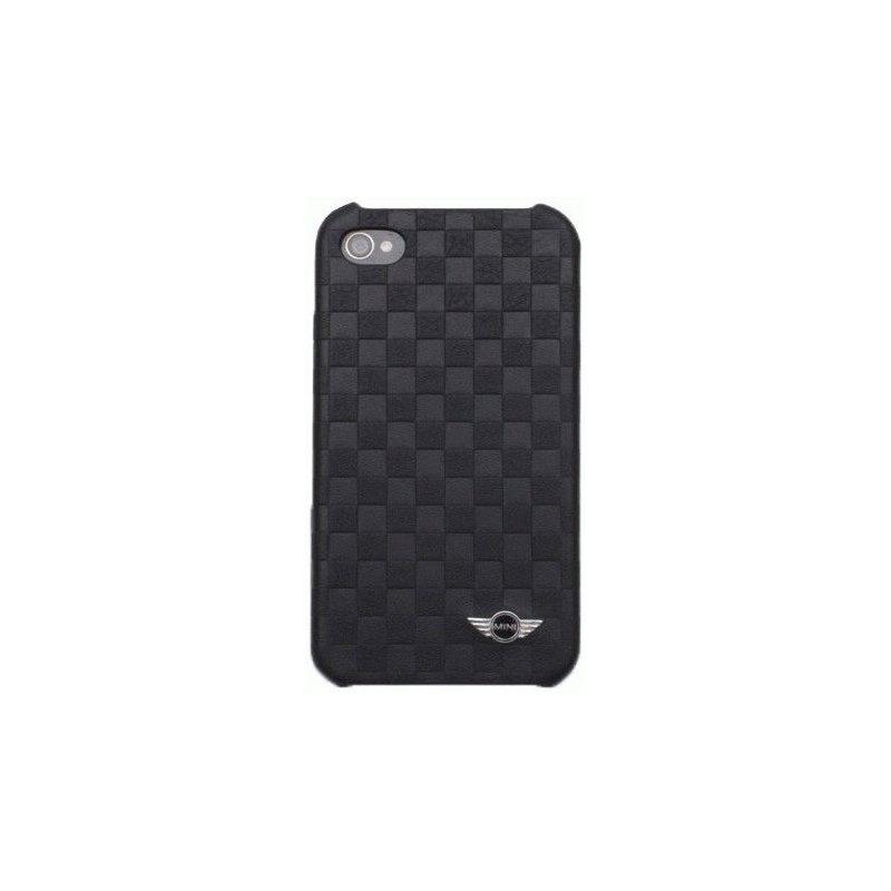 CG Mobile Mini Cooper Chequered кожаная накладка для iPhone 4/4S Black