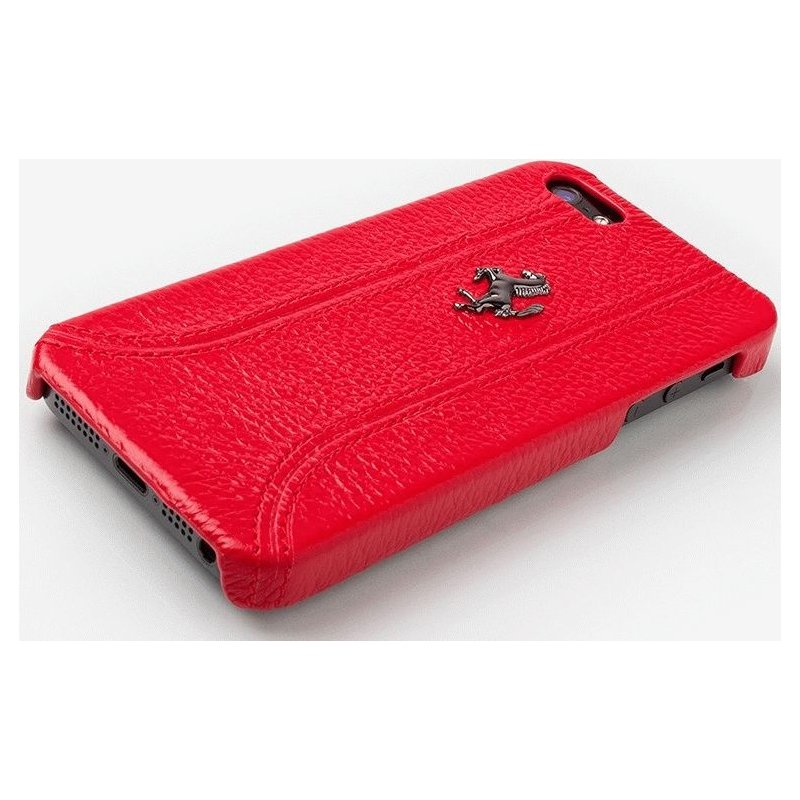 CG MOBILE Ferrari Leather Hard Case FF Collection кожаная накладка для iPhone 5 (FEFFHCP5RE)
