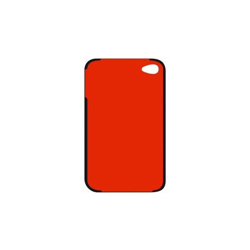 CG Mobile Mini Cooper Bonnet Stripes кожаная накладка для iPhone 4/4S Black/Red