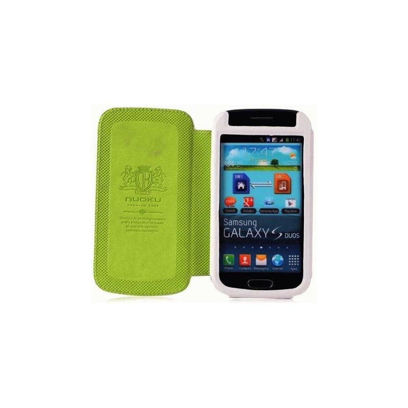Чехол для Samsung Galaxy S Duos S7562 Nuoku Grace White