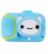 Детская фотокамера Baby Photo Camera Cute Animals Cat (Blue)