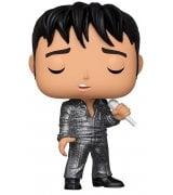 Коллекционная фигурка Funko POP! Rocks Elvis Presley Elvis '68 Comeback Special (DGLT) (36650) (FUN2549764)