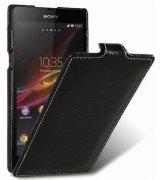 Кожаный чехол Melkco Flip (JT) для Sony Xperia Z L36i Black