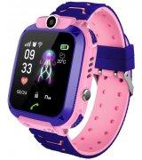 Детские телефон-часы с GPS трекером GOGPS ME K16S Pink (K16SPK)