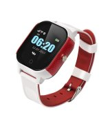 Детские телефон-часы с GPS трекером GOGPS К23 White/Red (K23WHRD)