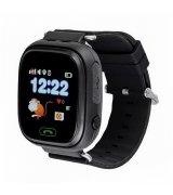Детские телефон-часы с GPS трекером GOGPS К04 Black (K04BK)