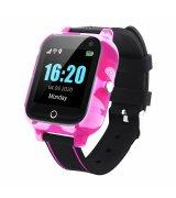 Телефон-часы с GPS трекером GOGPS T01 Термометр Pink (T01RD)