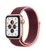 Apple Watch SE 40mm (GPS+LTE) Gold Aluminum Case with Plum Sport Loop (MYEC2/MYEJ2)
