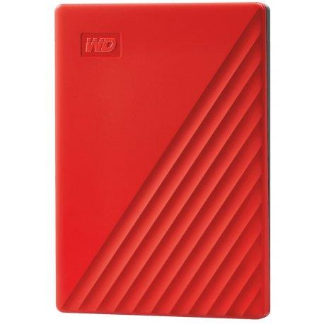 "Жесткий диск внешний WD 2.5"" USB 3.2 Gen 1 4TB My Passport Red (WDBPKJ0040BRD-WESN)"