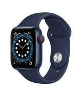 Apple Watch Series 6 40mm (GPS+LTE) Blue Aluminum Case with Deep Navy Sport Band (M06Q3/M02R3)