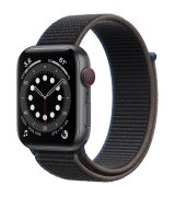 Apple Watch SE 44mm (GPS+LTE) Space Gray Aluminum Case with Charcoal Sport Loop (MYEU2/MYF12)