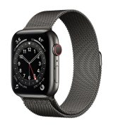 Apple Watch Series 6 44mm (GPS+LTE) Graphite Stainless Steel Case with Graphite Milanese Loop (M07R3/M09J3)