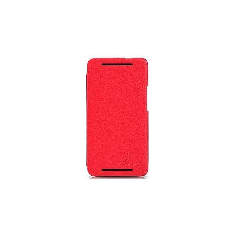 Кожаный чехол Nillkin Book для HTC One 801e Red