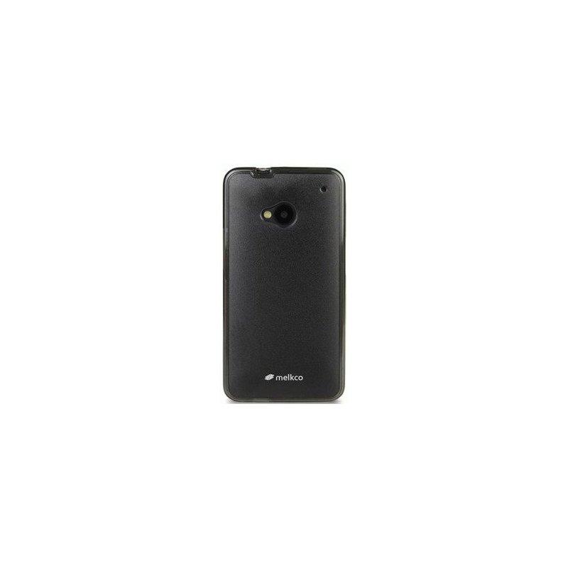 TPU накладка Melkco Poly Frame для HTC One 801e Black