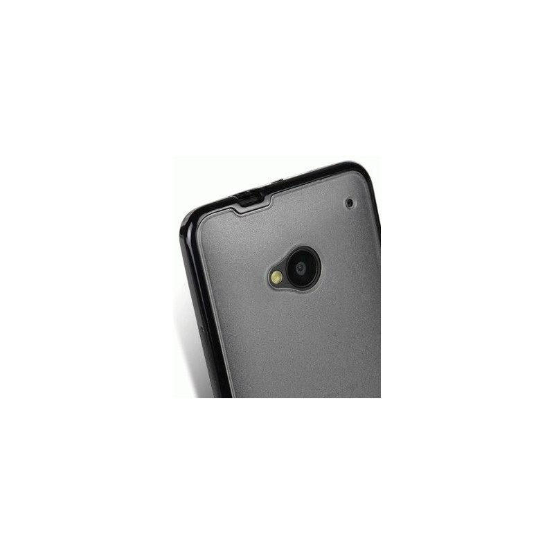TPU накладка Melkco Poly Frame для HTC One 801e Transparent Black