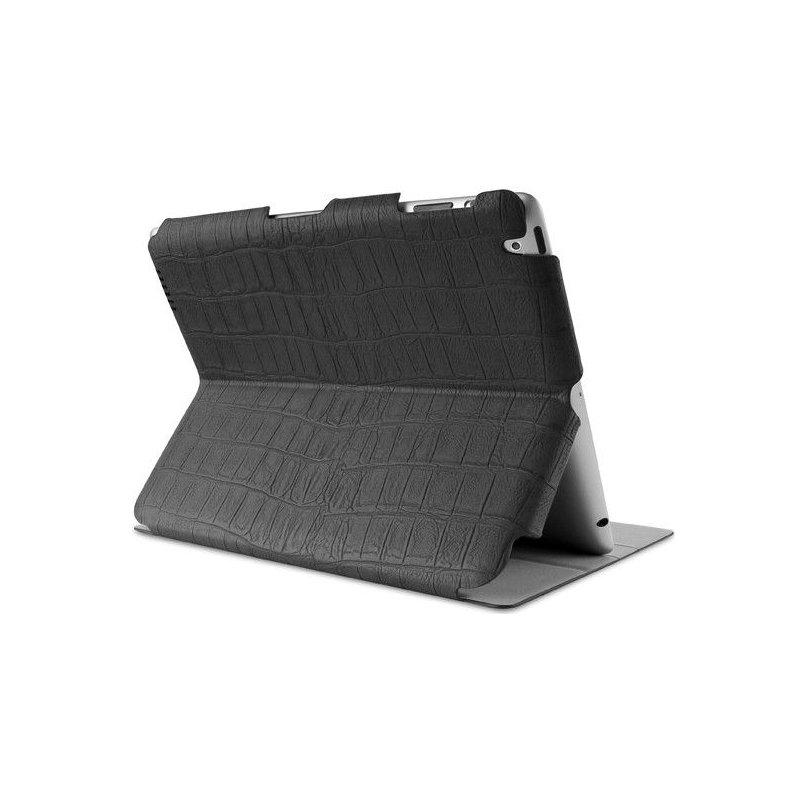 Чехол Puro iPad 3/ iPad 4 Crocodile Black