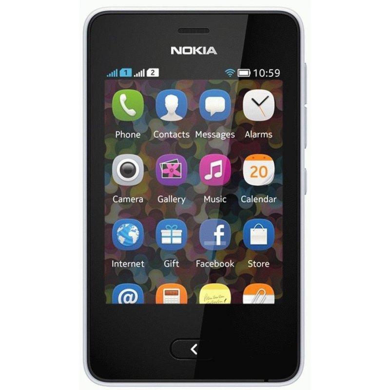 Nokia Asha 501 Dual Sim White