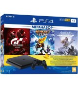 Sony PlayStation 4 Slim 1TB + Gran Turismo + Ratchet & Clank + Horizon Zero Dawn + PSPlus 3 месяца