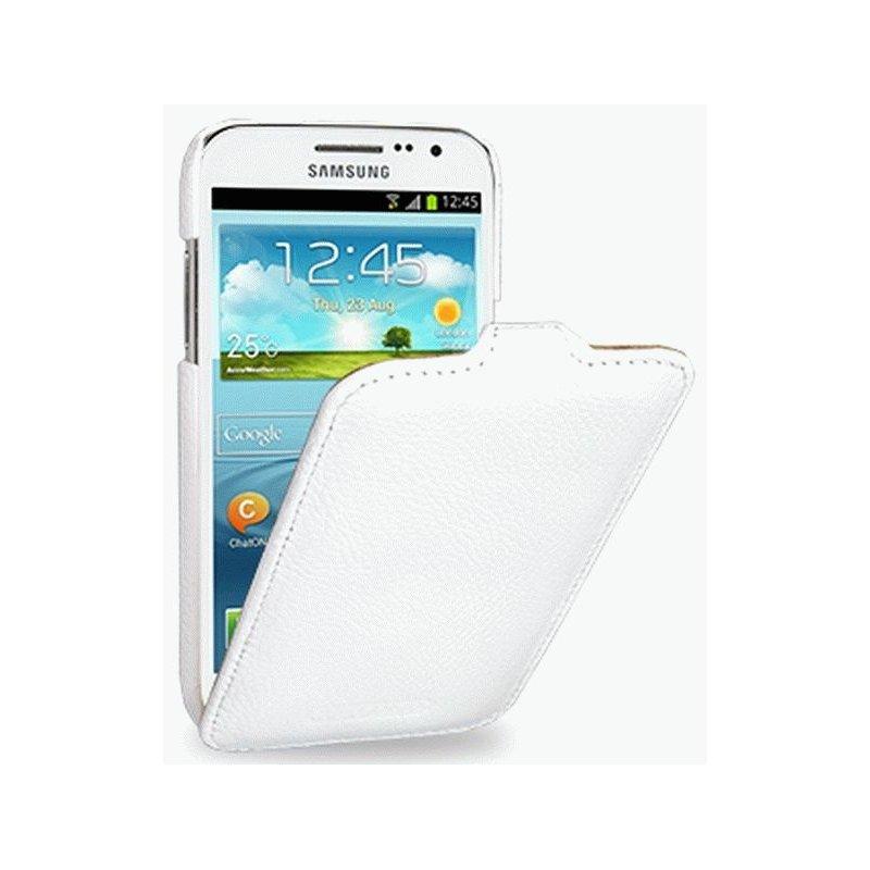 Кожаный чехол Tetded Flip для Samsung Galaxy S4 Mini Duos I9192 White