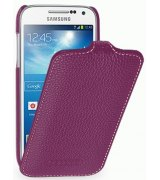 Кожаный чехол Tetded Flip для Samsung Galaxy S4 Mini Duos I9192 Purple