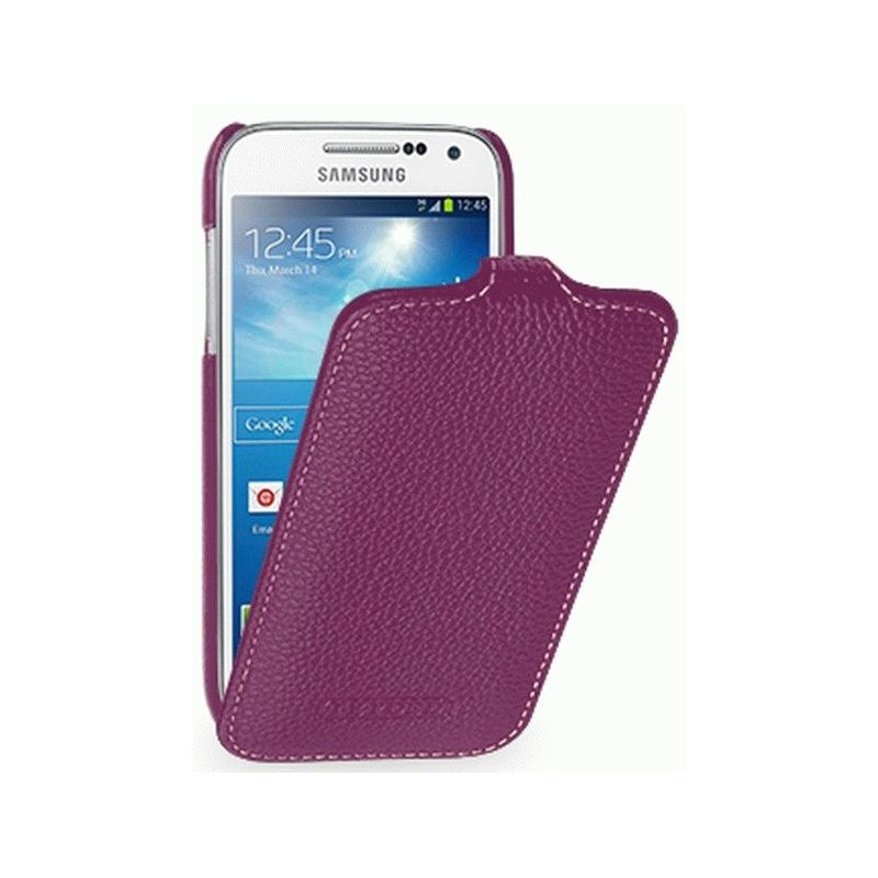 Кожаный чехол Tetded Flip для Samsung Galaxy S4 Mini Duos I9192 Purple