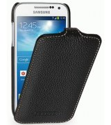 Кожаный чехол Tetded Flip для Samsung Galaxy S4 Mini Duos I9192 Black