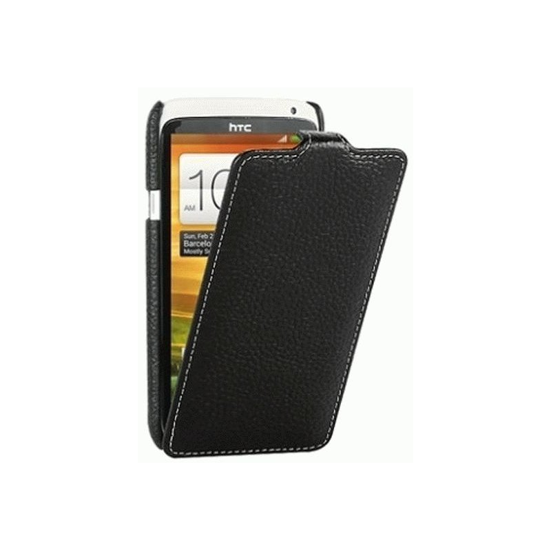 Кожаный чехол Tetded Flip для HTC One X S720e Black