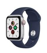 Apple Watch SE 40mm (GPS+LTE) Silver Aluminum Case with Deep Navy Sport Band (MYE92/MYEG2)