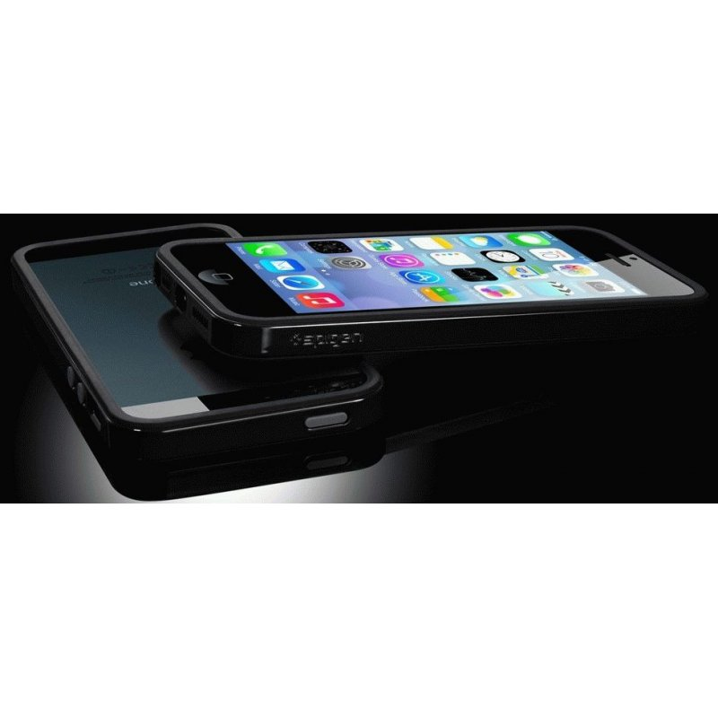 Бампер для iPhone 5 SGP Case Neo Hybrid EX Slim Soul Black (SGP10093)