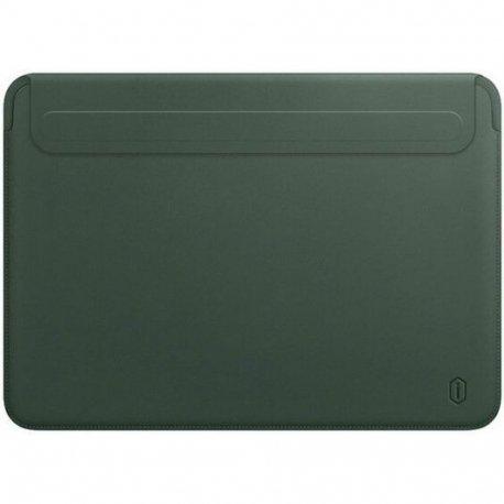 Чехол WIWU Skin Pro II Leather Sleeve для MacBook Air 13/Pro 13 Green