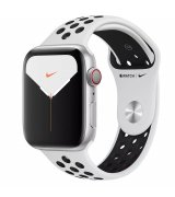 Apple Watch Series 5 Nike+ (GPS + LTE) 44mm Silver Aluminum Case with Pure Platinum/Black Nike Sport Band (MX392/MX3E2)