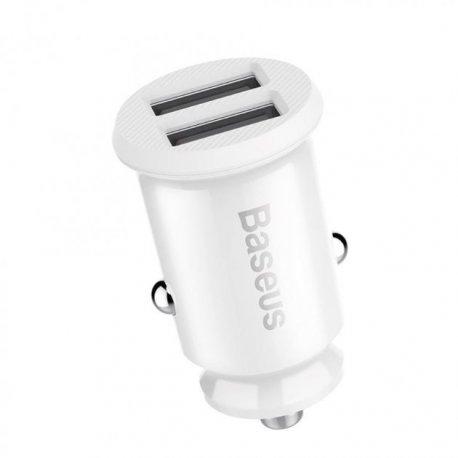 Автомобильное зарядное устройство Baseus Grain Car Charger 3.1A White (CCALL-ML02)