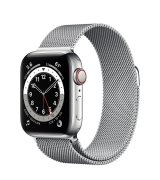 Apple Watch Series 6 40mm (GPS+LTE) Silver Stainless Steel Case with Silver Milanese Loop (M06U3/M02V3)