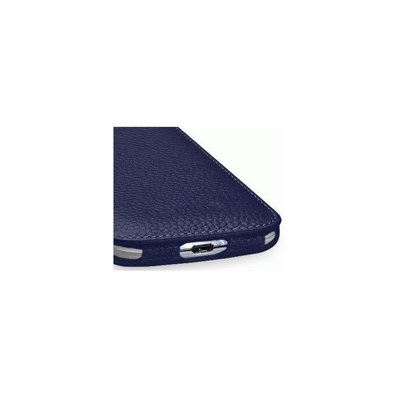 Кожаный чехол Tetded Flip для Samsung Galaxy S4 i9500 Navi Blue