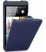 Кожаный чехол Tetded Flip для HTC One Dual SIM 802w Blue
