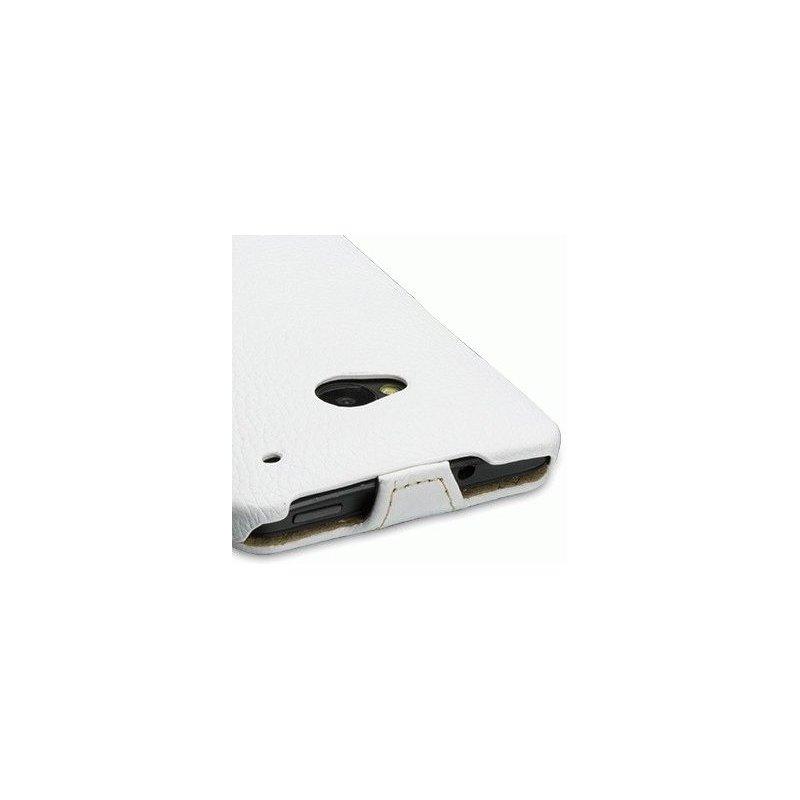 Кожаный чехол Tetded Flip для HTC One Dual SIM 802w White