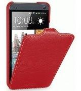Кожаный чехол Tetded Flip для HTC One Dual SIM 802w Red