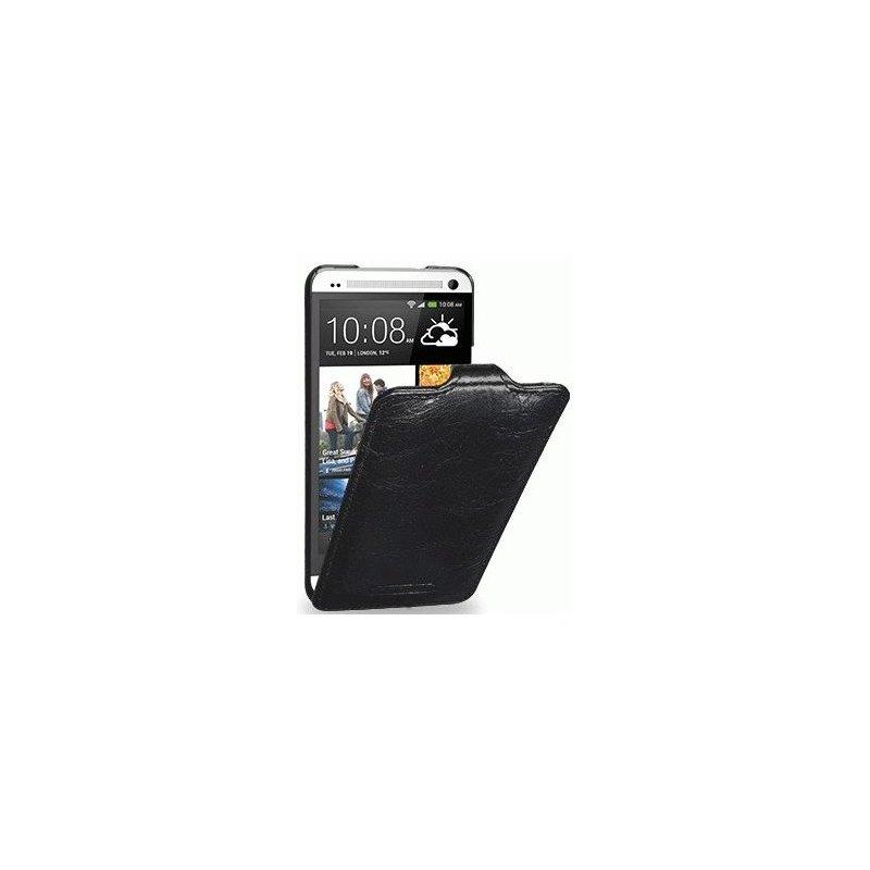 Кожаный чехол Tetded Lava для HTC One Dual SIM 802w Charcoal Black